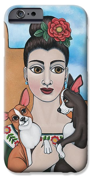 Jack Russell iPhone Cases - Mis Carinos iPhone Case by Victoria De Almeida