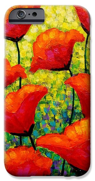 Decorative Art iPhone Cases - Mischas Poppies iPhone Case by John  Nolan