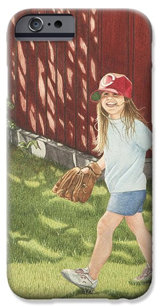 Baseball Glove iPhone Cases - Mischief iPhone Case by Dee Dee  Whittle