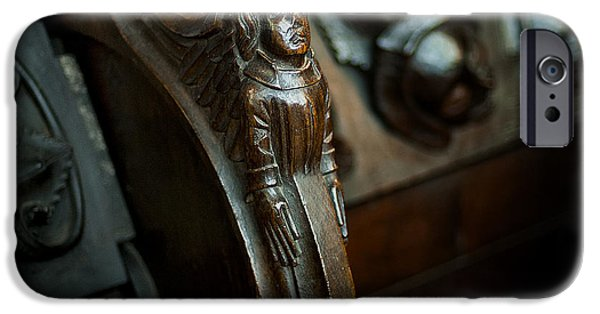 Wood Carving iPhone Cases - Misericord Carving iPhone Case by Jim Tobin