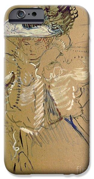 Nineteenth iPhone Cases - Misia Natanson iPhone Case by Henri de Toulouse-lautrec