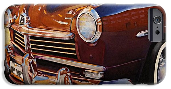 Asphalt Drawings iPhone Cases - Miss Daisy iPhone Case by David Neace