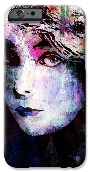 Lips iPhone Cases - Miss Gish iPhone Case by Gary Bodnar