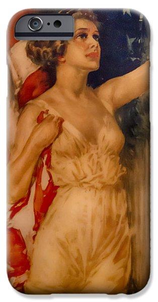 Wwi iPhone Cases - Miss Liberty iPhone Case by John Haldane