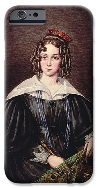 Hairstyle iPhone Cases - Miss Mary Kirby Of Castle Howard Inn, Yorkshire iPhone Case by Mary Ellen Best