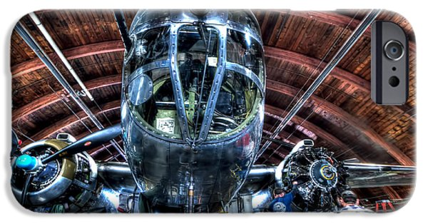 North American B-25j Mitchell iPhone Cases - Miss Mitchell iPhone Case by Amanda Stadther