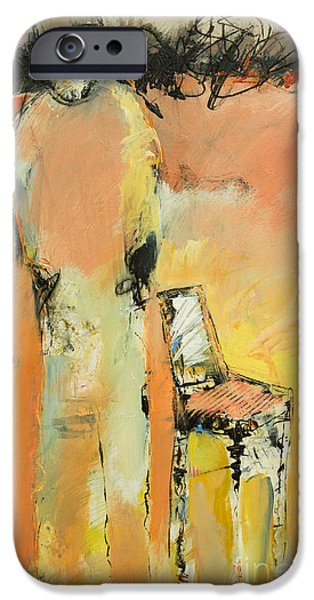 Empty Chairs Paintings iPhone Cases - Missing and Empty iPhone Case by Beau Wild