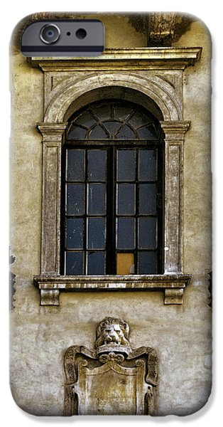 Facade iPhone Cases - Roman Window iPhone Case by Maria Coulson