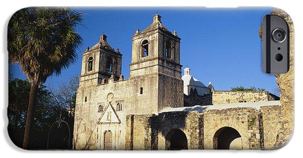 Historic Site iPhone Cases - Mission Concepcion, San Antonio, Texas iPhone Case by David Davis