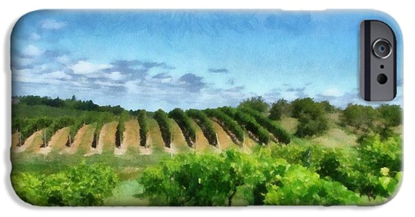 Recently Sold -  - Summer iPhone Cases - Mission Peninsula Vineyard ll iPhone Case by Michelle Calkins
