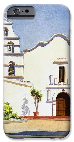 Mission San Diego De Alcala iPhone Case by Mary Helmreich