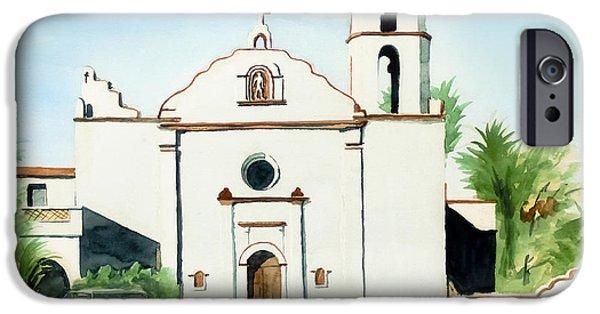 Escape iPhone Cases - Mission San Luis Rey Colorful II iPhone Case by Kip DeVore
