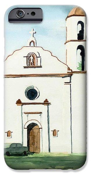 Mission San Luis Rey Colorful II iPhone Case by Kip DeVore