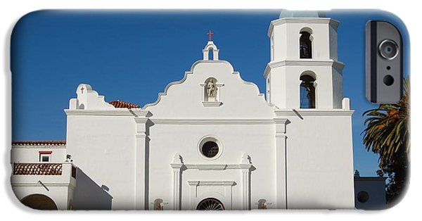 Cemetary iPhone Cases - Mission San Luis Rey de Francia iPhone Case by See My  Photos