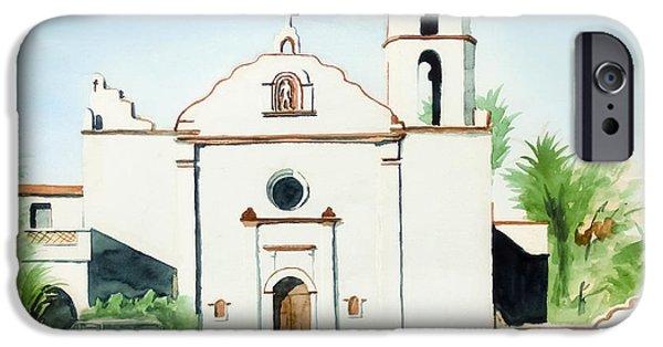 Escape iPhone Cases - Mission San Luis Rey  iPhone Case by Kip DeVore
