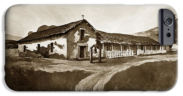 Mission San Rafael iPhone Cases - Mission San Rafael California  circa 1880 iPhone Case by California Views Mr Pat Hathaway Archives