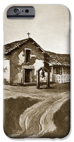 Mission San Rafael California  circa 1880 iPhone Case by California Views Mr Pat Hathaway Archives