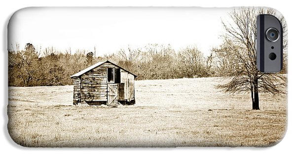 Shed iPhone Cases - Mississippi Pasture iPhone Case by Scott Pellegrin
