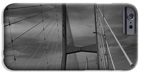 Arkansas iPhone Cases - Mississippi River Bridge iPhone Case by Dan Sproul