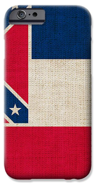 Mississippi state flag iPhone Case by Pixel Chimp