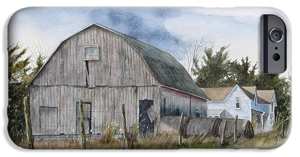 Old Barns iPhone Cases - Missouri Farm iPhone Case by Denny Dowdy