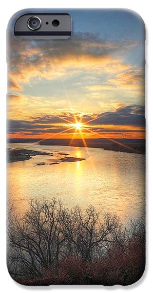Unset iPhone Cases - Missouri River Sunset iPhone Case by Chris  Allington