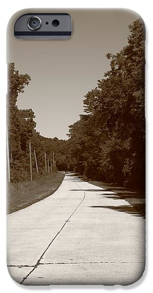 Missouri Route 66 2012 Sepia. iPhone Case by Frank Romeo