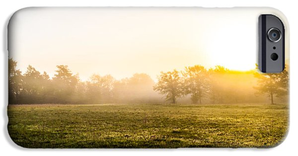 Autumn iPhone Cases - Mist at Sunrise iPhone Case by Shelby  Young
