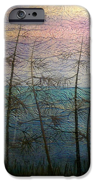 Sunset Glass Art iPhone Cases - Mist Fantasy iPhone Case by Rick Silas