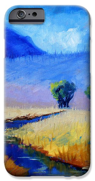 Abstractions iPhone Cases - Mist in the Mountains iPhone Case by Nancy Merkle