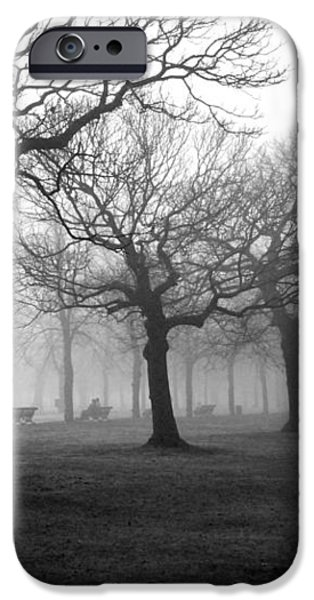 Mist in the park iPhone Case by Mark Rogan