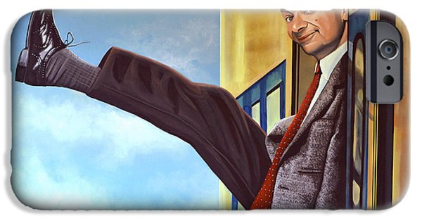 The Clock iPhone Cases - Mister Bean iPhone Case by Paul  Meijering