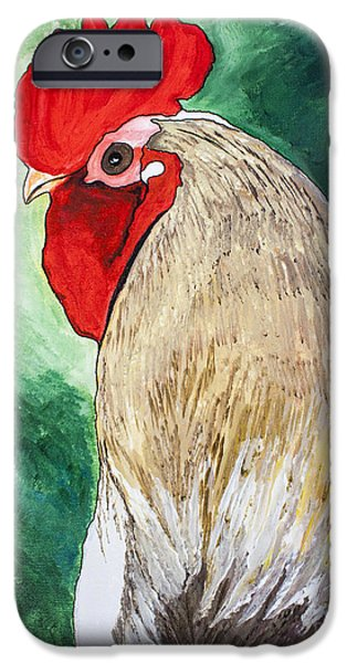 Farm Stand iPhone Cases - Mister Big Guy iPhone Case by Janice Rae Pariza