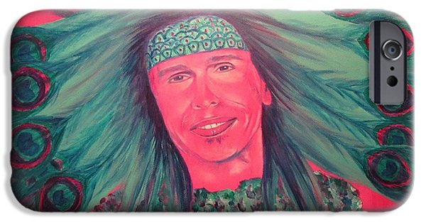 Steven Tyler Paintings iPhone Cases - Mister Peacock iPhone Case by Jeepee Aero