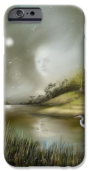 Eerie Paintings iPhone Cases - Mistress of the Glade iPhone Case by Susi Galloway