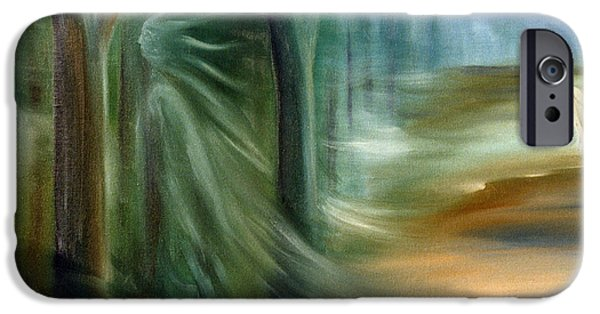 Morgan Le Fay iPhone Cases - Mists Of Avalon iPhone Case by Rosemarie Morelli