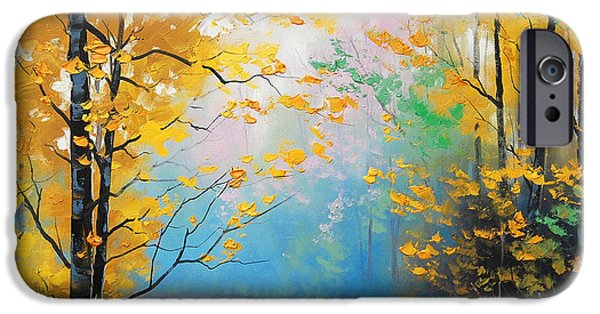 Fiery iPhone Cases - Misty Autumn Day iPhone Case by Graham Gercken
