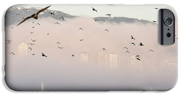 Park Scene iPhone Cases - Misty City iPhone Case by James Wheeler
