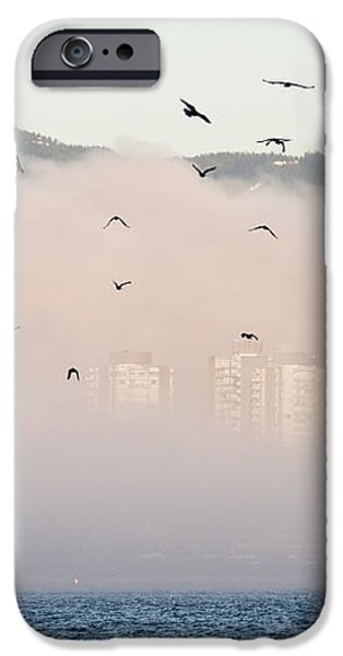 Misty City iPhone Case by James Wheeler