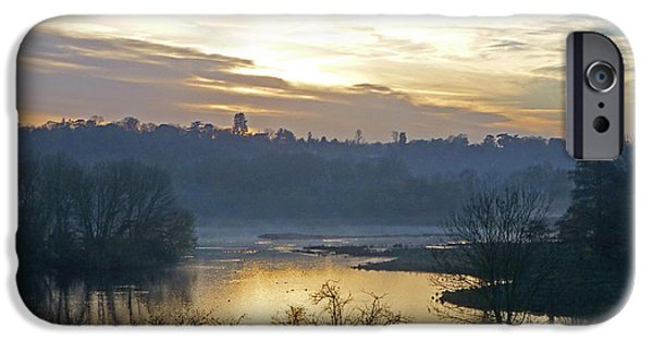Wildlife Imagery iPhone Cases - Misty Evening Light iPhone Case by Gill Billington