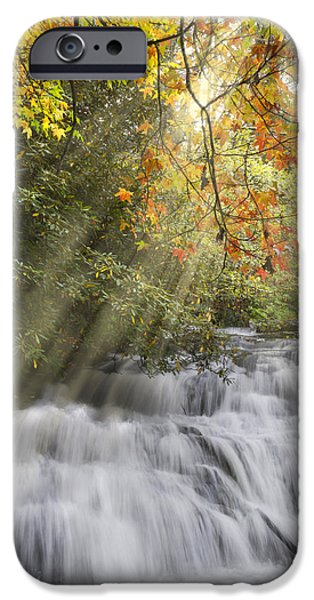 Misty Falls at Coker Creek iPhone Case by Debra and Dave Vanderlaan