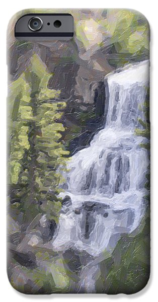 Misty Falls iPhone Case by Jo-Anne Gazo-McKim