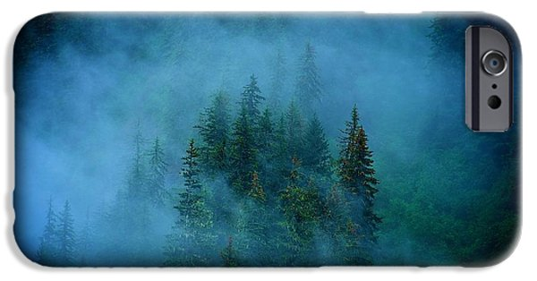 Fog Mist iPhone Cases - Misty Fjord iPhone Case by Thad Roan