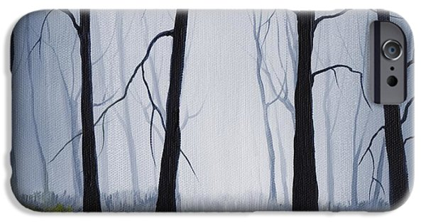 Forest iPhone Cases - Misty Forest iPhone Case by Anastasiya Malakhova