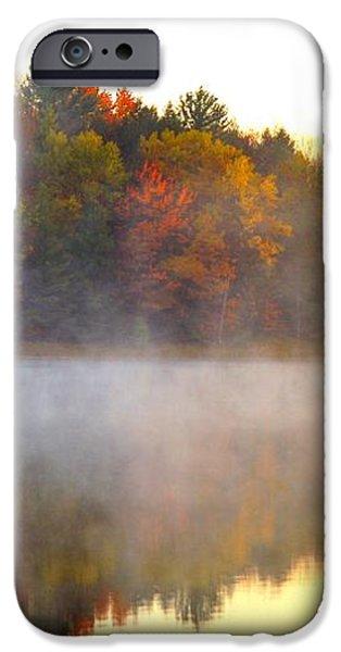 Misty Morning at Stoneledge Lake iPhone Case by Terri Gostola