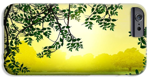 Fog Mist Mixed Media iPhone Cases - Misty Morning iPhone Case by Bedros Awak