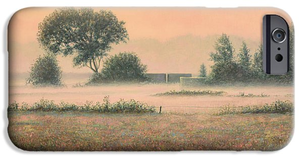 Morning iPhone Cases - Misty Morning iPhone Case by James W Johnson