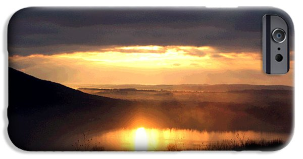 Fog Mist iPhone Cases - Misty Morning iPhone Case by Mary Cloninger