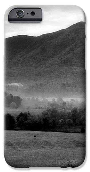 Misty Mountain Morning iPhone Case by Dan Sproul