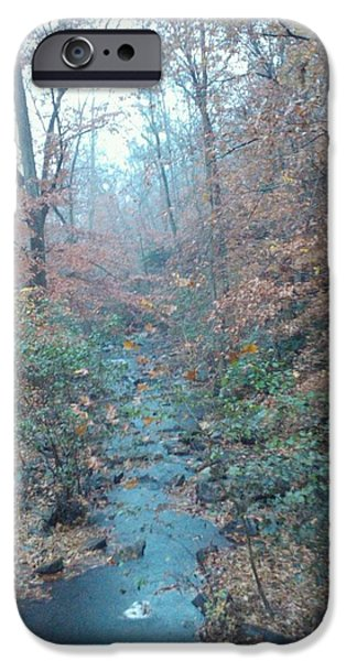 Rainy Day iPhone Cases - Misty Mountain Stream iPhone Case by Nancy-Lynn Argue